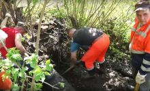 В Нижнем Тагиле неизвестные прорубили трубу канализации из-за чего оказалась загрязнена река