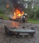На Серовском тракте в жутком ДТП столкнулись фура и легковушка. Водитель Renault заживо сгорел в машине (видео)