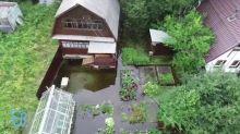 Садовые участки в Монзино снова оказались затопленными (видео)