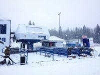 Склоны Белой начали снежить. На открытии сезона там будут играть в айсбол