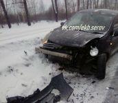 Из-за гололёда утром на Восточном шоссе произошло два ДТП. В авариях пострадали 5 автомобилей (фото)