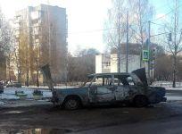 Сегодня ночью на Вагонке сгорел автомобиль (фото)