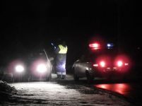 Появилось видео ночной погони ГИБДД за автомобилем из свадебного кортежа