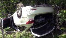 Hyundai с 8-летнем ребёнком вылетел в кювет на трассе (обновлено: видео)