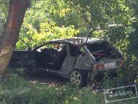 В Нижнем Тагиле «восьмёрка» врезалась в дерево рядом с магазином. «Дети чудом не пострадали, водителю пробило голову, орёт, как пьяный» (фото)