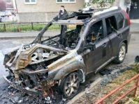 Сегодня ночью в Нижнем Тагиле сожгли внедорожник (видео)