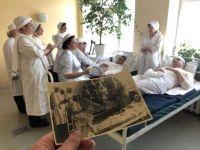В Нижнем Тагиле сделали копию снимка, снятого в одном из местных военных госпиталей в 1942 году (фото, видео)