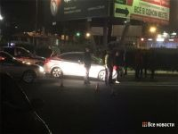 Hyundai Solaris сбил пешехода у железнодорожного вокзала