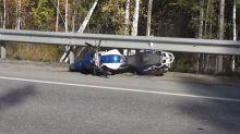 На Серовском тракте автобус насмерть сбил мотоциклиста (фото)