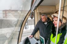 Сергей Носов протестировал новые трамваи (фото)