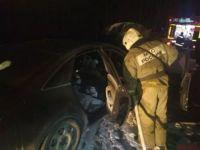 На Серовском тракте на ходу загорелась Audi (фото)