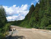 На дороге в Серебрянку провалился мост