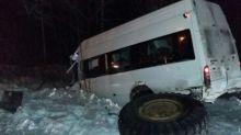 Рейсовый автобус из Нижнего Тагила столкнулся с грейдером. Семь человек ранено (фото)