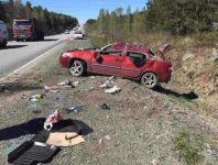 Женщина с ребёнком попала в ДТП в районе Невьянска. Водитель уснула за рулём