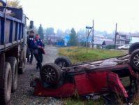 ВАЗ-2105 перевернулся в пригороде Нижнего Тагила: водитель бросил автомобиль и скрылся