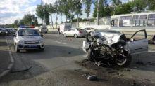 Пьяный житель Нижнего Тагила устроил массовую аварию, уходя от экипажа ДПС (фото)