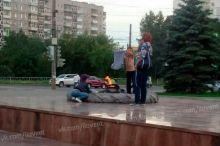 На Вагонке дети сушили белье над Вечным огнем (фото)